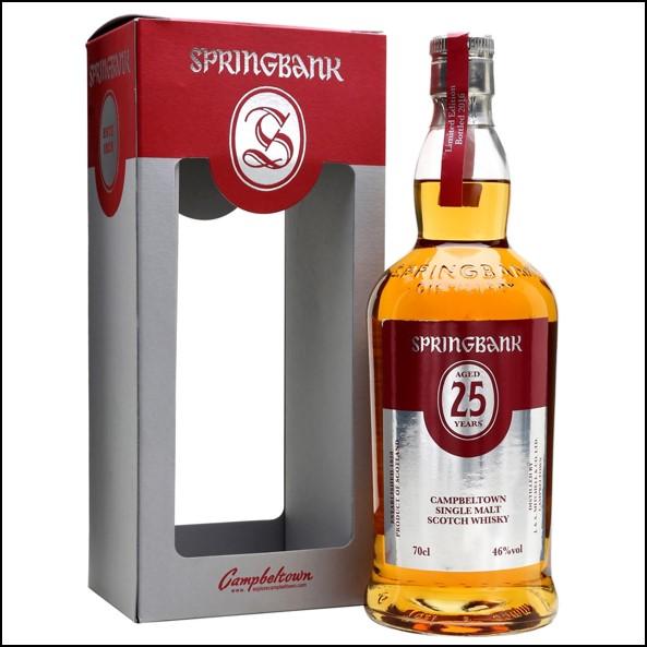 雲頂威士忌25年收購/Springbank 25 Year Old Bot.2016 2017 Campbeltown Single Malt Scotch Whisky 70cl 46%
