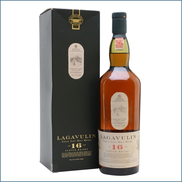 LAGAVULIN 16 YEAR OLD Bot.1980s White Horse Litre 100cl 43% 拉加維林16年收購