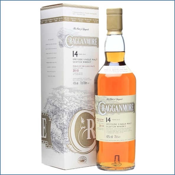 Cragganmore 14 Year Old Friends of Classic Malts 2010 Speyside Single Malt Scotch Whisky 70cl 40%