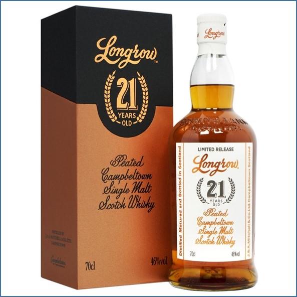 Longrow 21 Year Old 2019 Release Campbeltown Single Malt Scotch Whisky 70cl 46%