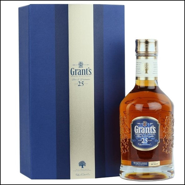 Grants 25 Year Whisky Blended Scotch Whisky 70cl 40%