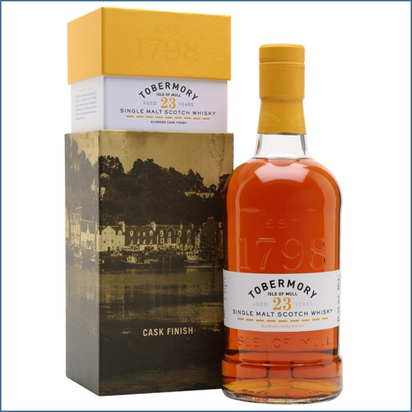 Tobermory 23 Year Old Oloroso Cask Finish Joins Core Range 70cl 46.3%