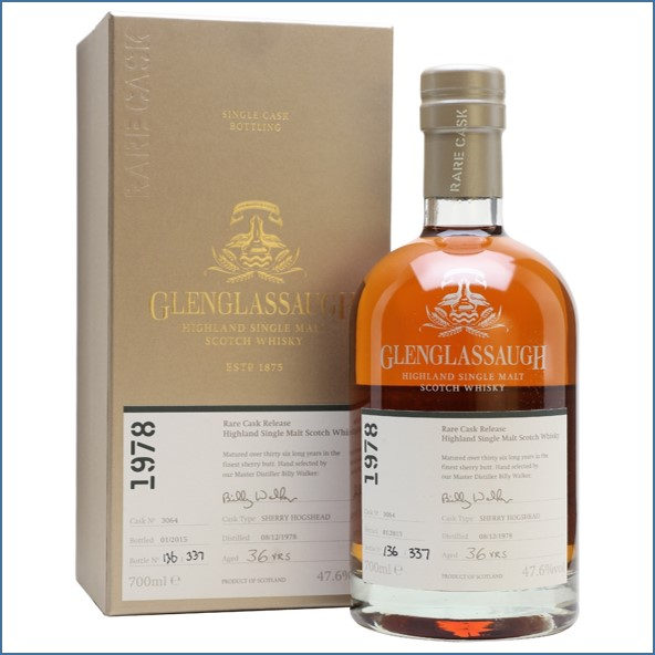 Glenglassaugh 1978 36 Year Old For The Nectar Cask #3064 sherry butt Rare Cask 70cl 47.6%