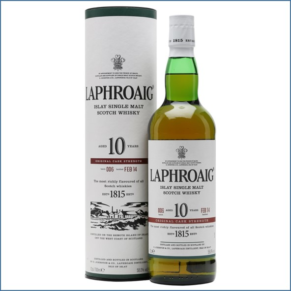 拉佛格10年原酒收購 Laphroaig 10 Year Old Cask Strength Batch 006 Bot.2014 70cl 58%