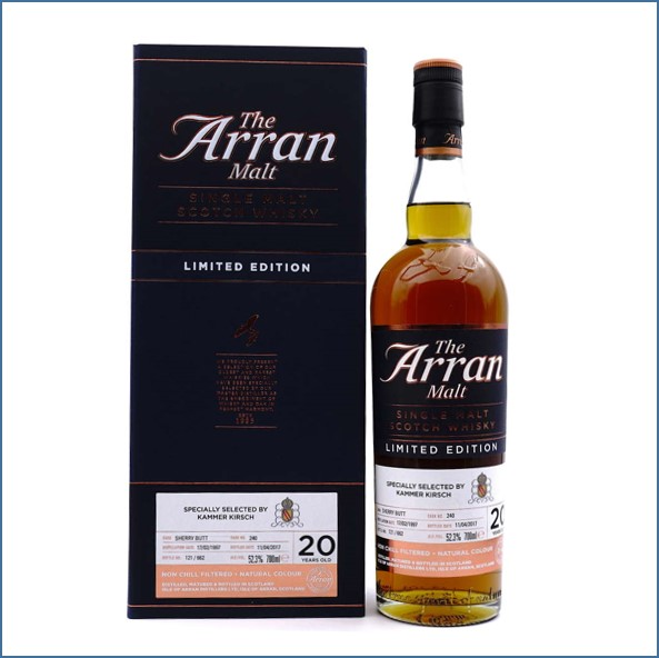 Arran 20 Year Old Jahre 1997-2017 Sherry Butt 70cl 52.3%