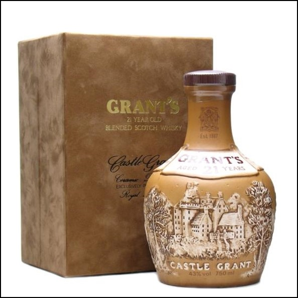 Grant's Castle Grant 21 Year Old Bot.1980s Blended Scotch Whisky 75cl 43%