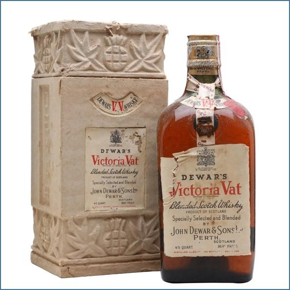 Dewar's Victoria Vat Bot.1940s Spring Cap Blended Scotch Whisky 75cl 43.4%