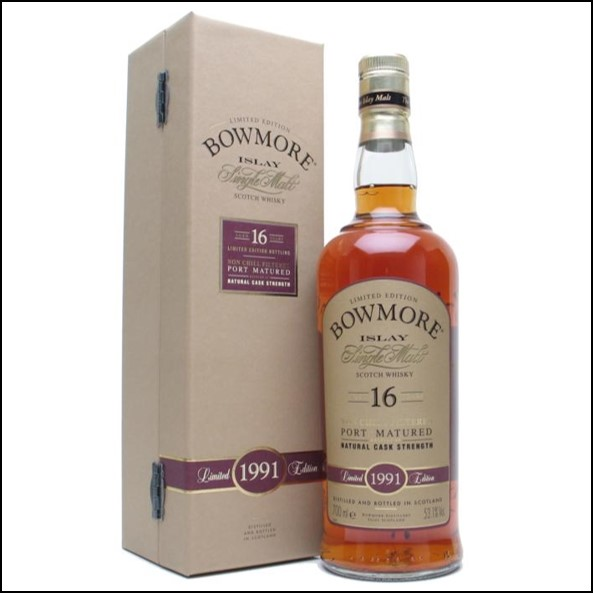 Bowmore 16 Year Old 1991 Port Matured 70cl 53.1%