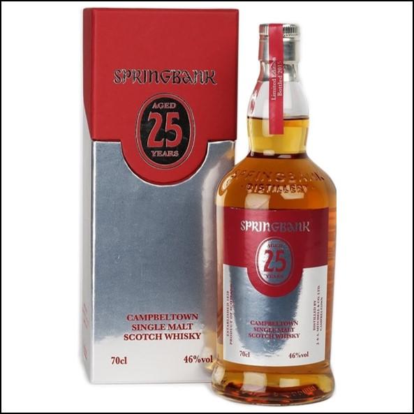 雲頂威士忌25年收購/Springbank 25 Year Old Bot.2015 Campbeltown Single Malt Scotch Whisky 70cl 46%