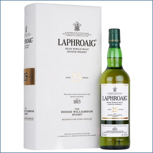 Laphroaig 25 Year Old - The Bessie Williamson Story 70cl 43%