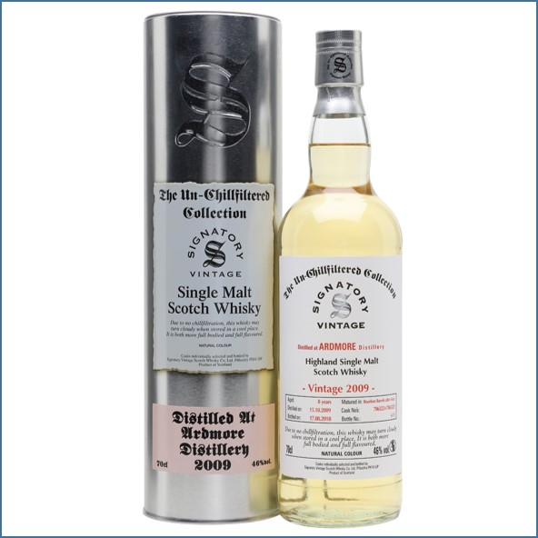 Ardmore 8 Year Old 2009 Signatory  70cl 46%
