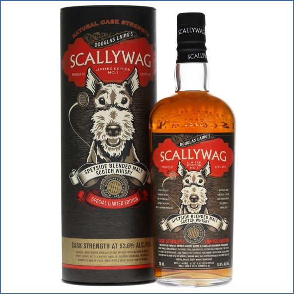 Scallywag Cask Strength Edition 1 Speyside Blended Malt Scotch Whisky Douglas Laing 70cl 53.6%