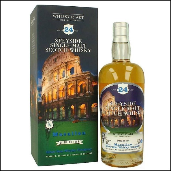 MACALLAN 24 Year Old 1990 2014 Speyside Single Malt Scotch Whisky SILVER SEAL 70cl 54.4%