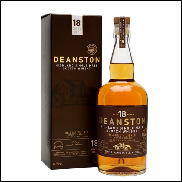 DEANSTON 18 YEAR OLD  First-fill Bourbon Finish 70cl 46.3%