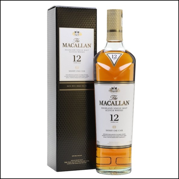 收購麥卡倫12年雪莉桶Macallan 12 Year Old Sherry Cask 70cl 40% 2018