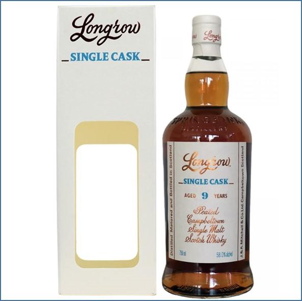 Longrow 9 Year Old 2007-2017 First Fill Sauternes Chardonnay Campbeltown Single Malt Scotch Whisky70cl 58%