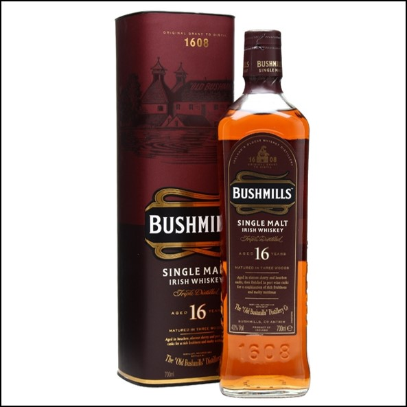 波希米爾愛爾蘭威士忌收購/ Bushmills 16 Year Old Three Wood Irish Single Malt Whiskey 70cl 40%