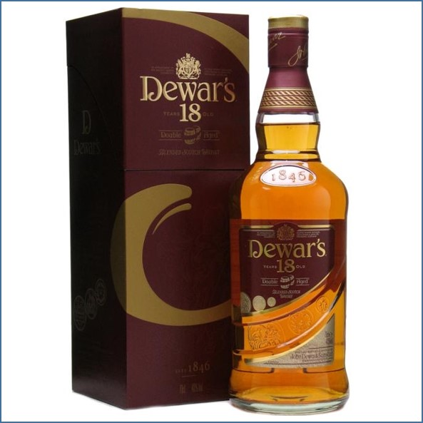 Dewar's 18 Year Old Double Aged Blended Scotch Whisky 70cl 40%