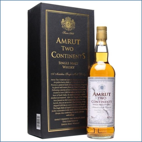 Amrut Two Continents Indian Single Malt Whisky 70cl 46%