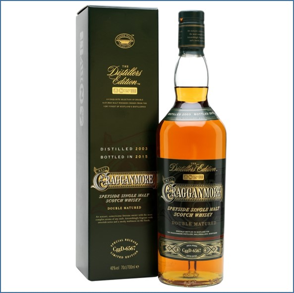 Cragganmore 2015 Distillers Edition 2003  Speyside Single Malt Scotch Whisky 70cl 40%