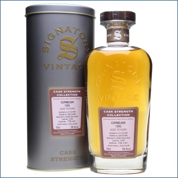 Clynelish 1995 12 Year Old Refill Sherry Butt Signatory 70cl 58.4%