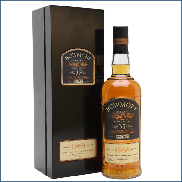 Bowmore 37 Year Old 1968 Bourbon Wood 70cl 43.4%