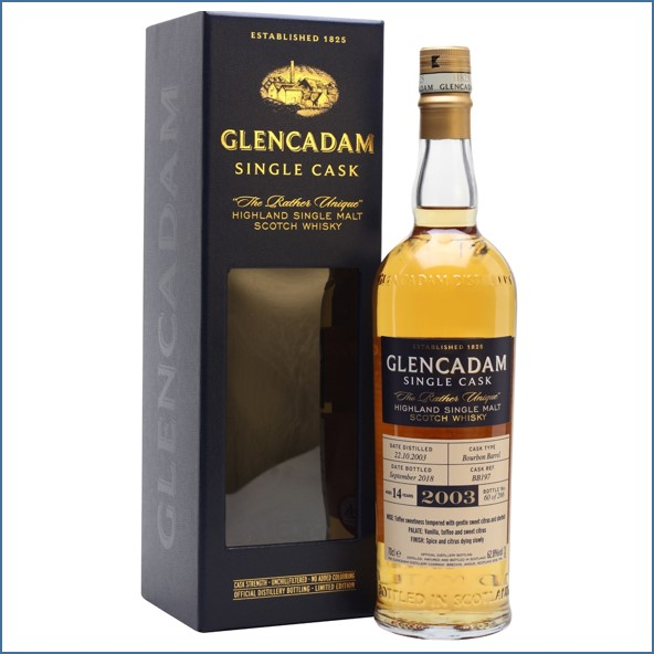 Glencadam 19 Year Old Sherry Cask 1998 70cl 54.2%