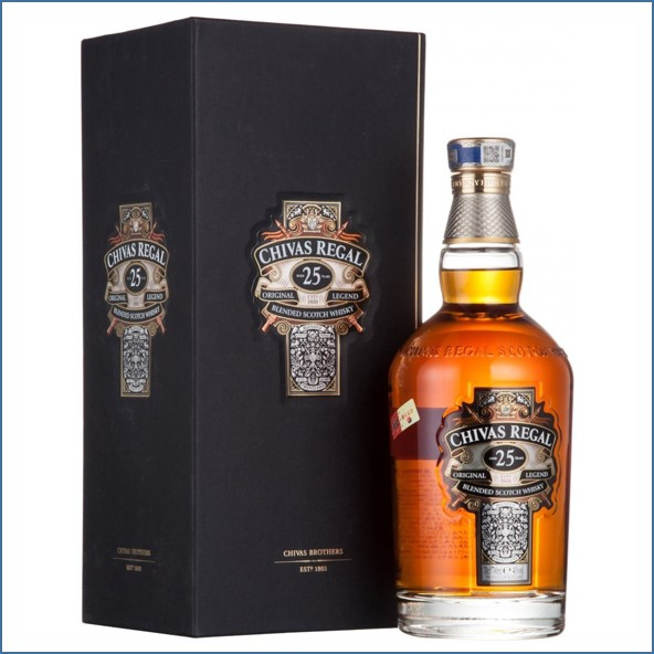 Chivas Regal 25 Year Old Blended Scotch Whisky 70cl 40%