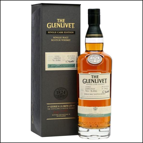 GLENLIVET 16 YEAR OLD Ladderfoot Sherry Cask 70cl 58.6%