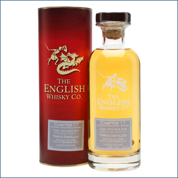 The English Whisky Chapter 17 Cask Strength 7 Year Old 2008-2015 70cl 56.7%