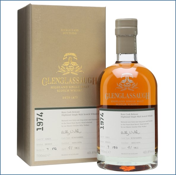 Glenglassaugh 1974 Cask #1282 41 Year Old Rum Barrel Finish Rare Cask Release Batch 2 70cl 40.8%