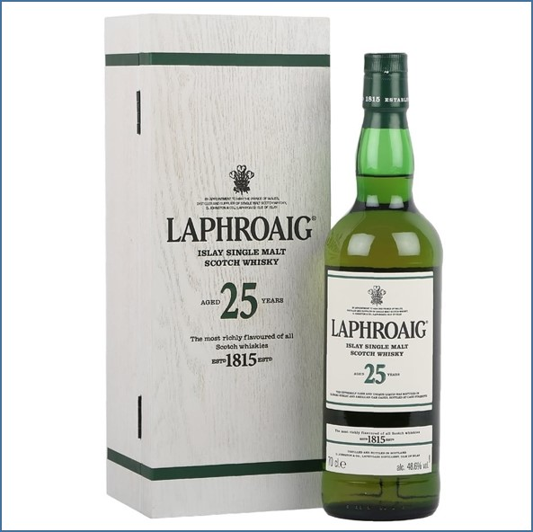 Laphroaig 25 Year Old Cask Strength Bot.2016 70cl 48.6%/ Bot.2017 48.9%/ Bot.2018 52%/ Bot.2019 51.4%/ Bot.2020 70cl 48.9%
