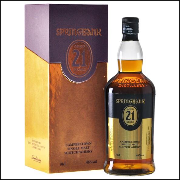 雲頂威士忌21年收購/Springbank 21 Year Old - 2019 Release Campbeltown Single Malt Scotch Whisky 70cl 46%