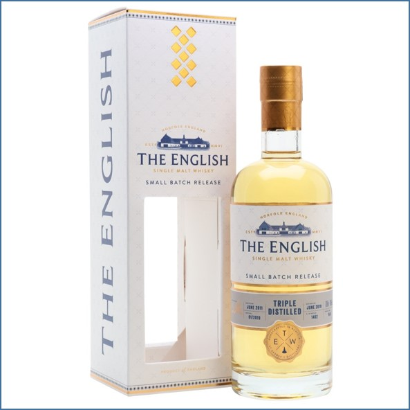 The English Whisky Small Batch Triple Distilled 2011 Bot.2019 70cl 46%
