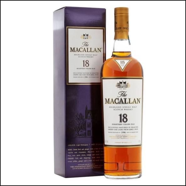 麥卡倫18年收購 雪莉桶1996/Macallan 18 Year Old Sherry Oak 1996