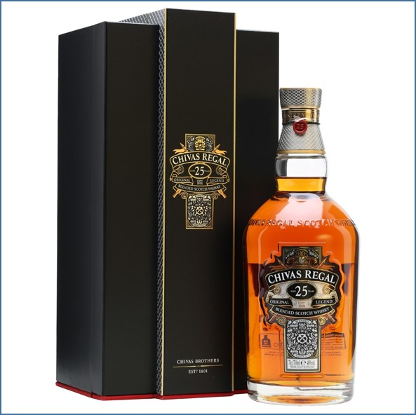 Chivas Regal 25 Year Old Blended Scotch Whisky 70cl 40%1