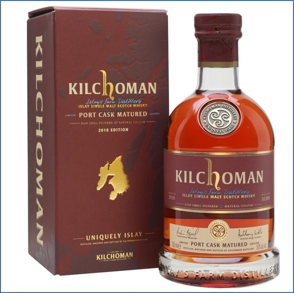 Kilchoman 2018 4 Years Old  Port Cask 2014 Edition 70cl 50%