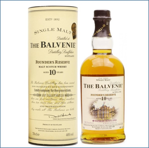 Balvenie  Founders Reserve Bank of Scotland Edition 10 year old 70cl 40%