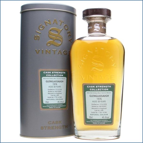 Glenglassaugh 1976 30 Year Old Cask #2381 Highland Single Malt Scotch Whisky Signatory 70cl 45.3%