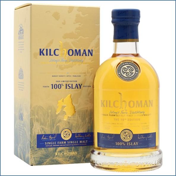 Kilchoman 100% Islay Bot.2020 10th Edition 70cl 50%