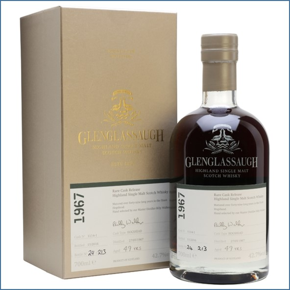 Glenglassaugh 1967 49 Year Old Cask #1114-1 Matured in a Hogshead Rare Cask Release Batch 3 70cl 42.7%