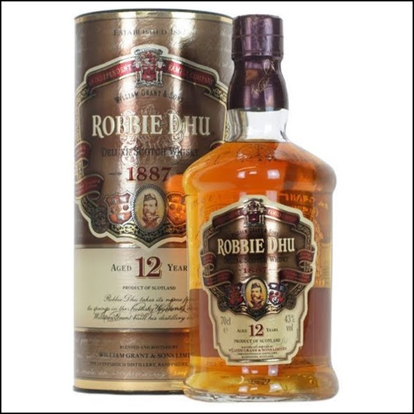 William Grant & Sons Robbie Dhu 12 Year Old Deluxe Scotch Whisky 70cl 43%