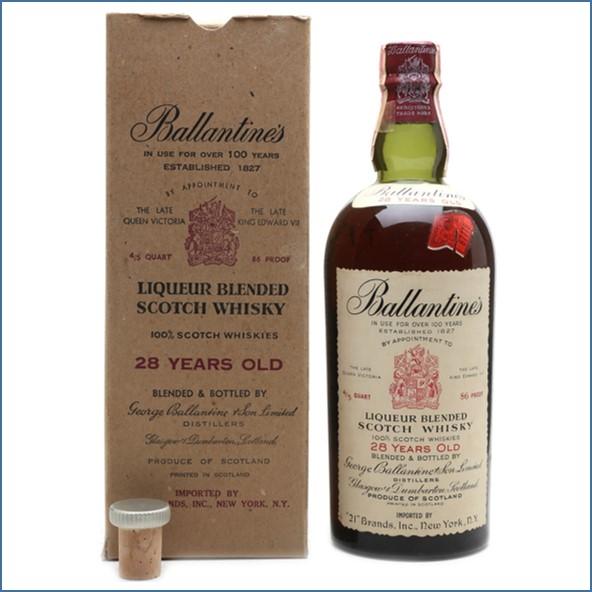 Ballantine's 28 Year Old Bottled 1950s - 21 Brands 75.7cl 43%