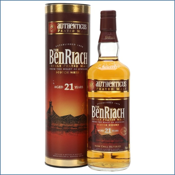 Benriach 21 Year Old Authenticus Peated Malt 70cl 46%
