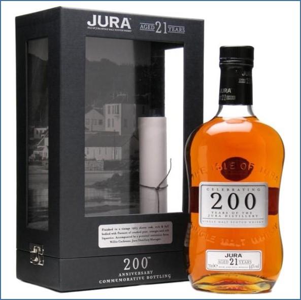 Isle of Jura 21 Year Old 200th Anniversary Island Single Malt Scotch Whisky 70cl 44%