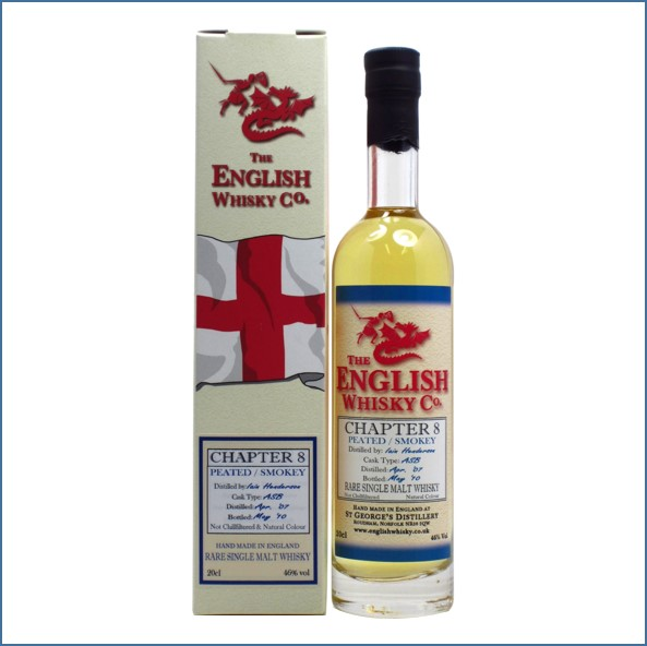 English Whisky Co. Chapter 8 Peated  Smokey Miniature  2007 3 year old