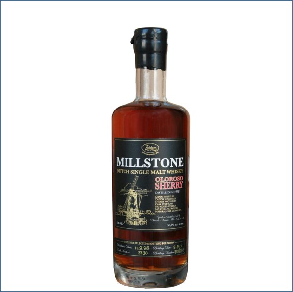 Millstone 1998-2016 Oloroso Sherry Dutch Single Malt Zuidam Whisky 70cl 55.5%