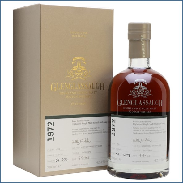 Glenglassaugh 1972 44 Year Old Cask #1721 Matured in a Massandra Sherry cask Rare Cask Release Batch 3 70cl 42.4%
