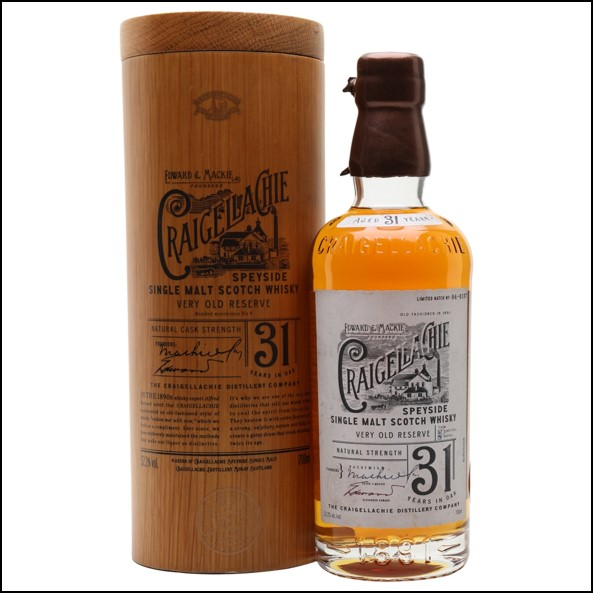 Craigellachie 31 Year Old Speyside Single Malt Scotch Whisky 70cl 52.2%