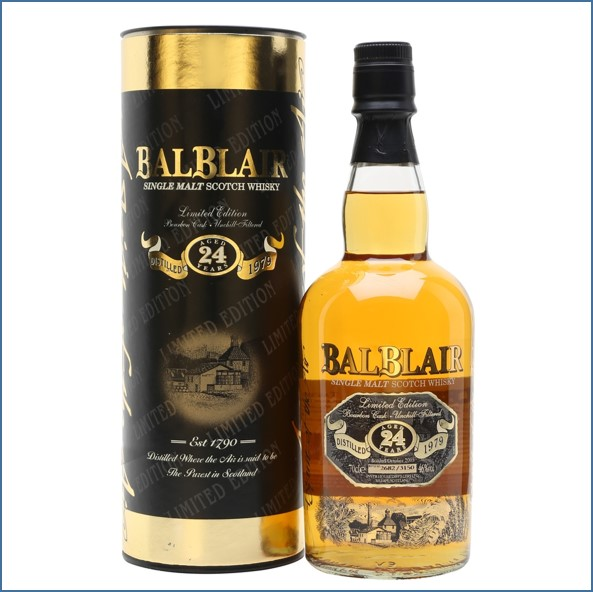 Balblair 24 Years Old 1979 70cl 46% Bourbon Cask Limited Edition
